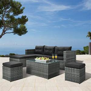 Lounge Set 3 Teilig : garten lounge set texas 4 teilig polyrattan grau d nisches bettenlager ~ Bigdaddyawards.com Haus und Dekorationen