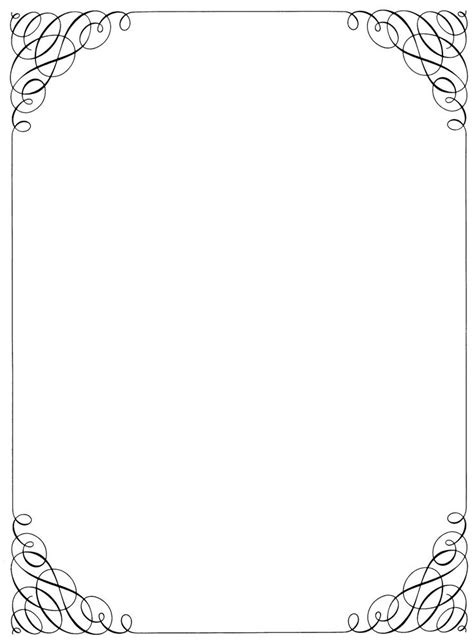 calligraphy style border borders frames page borders