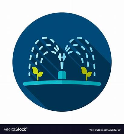 Irrigation Icon Vector Sprinkler Automatic Royalty Vectors
