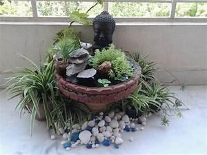 miniteich fur den balkon mit buddha figur und kleinem With französischer balkon mit buddha für garten groß