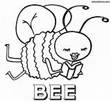 Bee Coloring Pages Print Coloringway sketch template