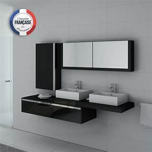 Double Vasque Noir : meuble salle de bain ref dis9551n ~ Teatrodelosmanantiales.com Idées de Décoration