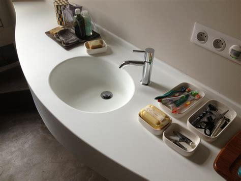 plan de travail bureau sur mesure plan vasque corian