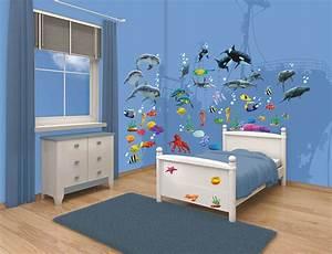 Wandtattoo Unterwasserwelt Kinderzimmer : walltastic wandsticker wandtattoo set kinderzimmer fische ~ Sanjose-hotels-ca.com Haus und Dekorationen
