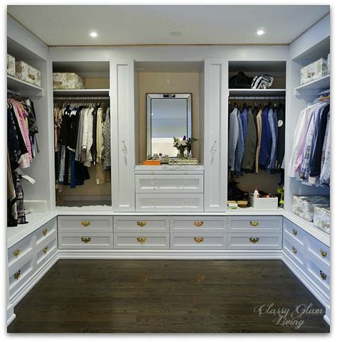 diy custom closet dressing room glam living