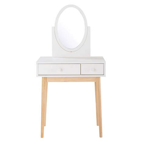 coiffeuse 2 tiroirs blanche maisons du monde