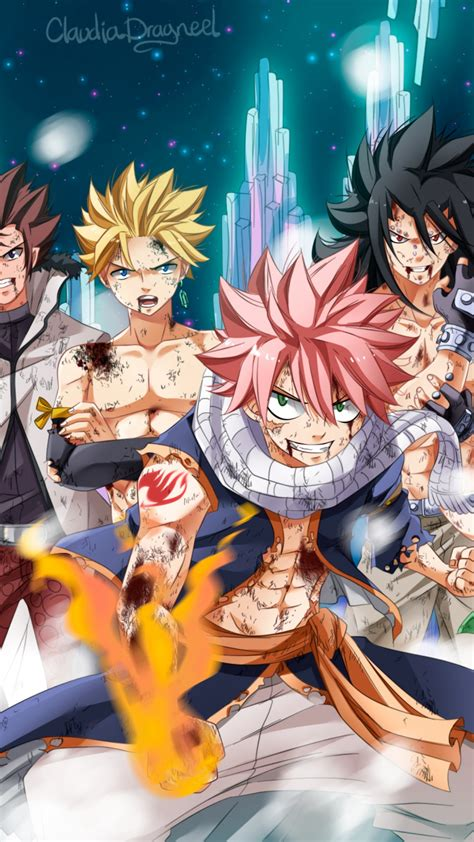 anime lead characters fairy tail wallpaper