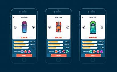 Ui Mobile Ux Racing Multiplayer Case Selection