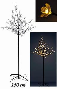 Weihnachtsbeleuchtung Aussen Led Warmweiss : bl tenbaum 150 cm 120 led warmwei innen au ~ Eleganceandgraceweddings.com Haus und Dekorationen