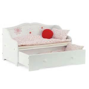18 inch doll furniture day bed with trundle storage