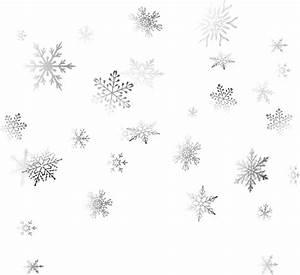 ftestickers snow snowflakes silver transparent luminous...