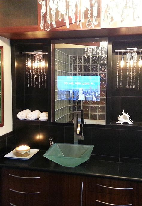 Tv Mirror Bathroom by Vanity Mirror Tv Vanishing Television For Your Bathroom