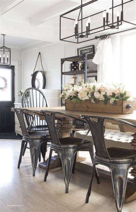 Dining Room Table Decor Ideas by 45 Modern Farmhouse Dining Room Decorating Ideas Home Decor