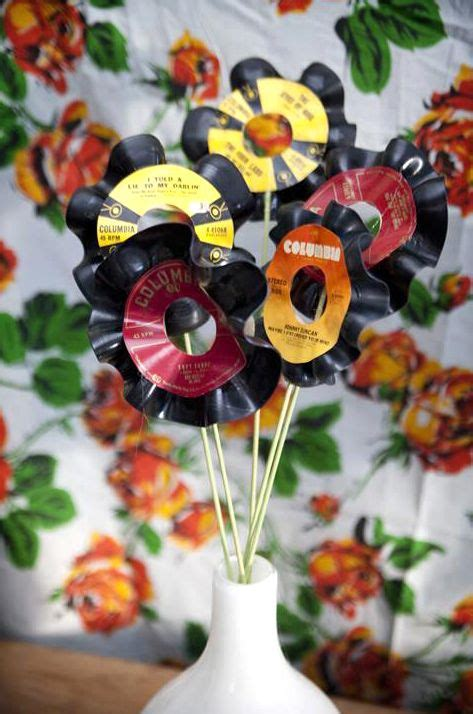 Another Spin On Vinyl Flowers #records Httpwwwpinterestcomthehitman14musicalcrafts%2b
