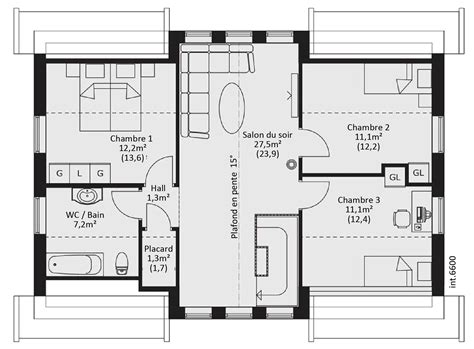 plan maison demi niveau 4 chambres plan maison tage 4 chambres recherche with plan