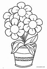 Coloring Flower Pot Pages Cool2bkids Printable sketch template