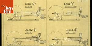Drawing Of The 1893 Kitchen Sink Engine   U0026quot Diagram Of 4 Cycle Internal Combustion Engine U0026quot