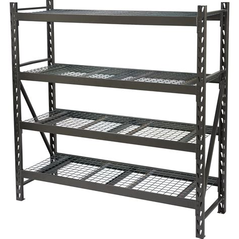 metal storage rack strongway steel shelving 72in w x 24in d x 72in h 4