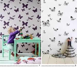 Papier Peint Papillon Oiseau : chambre d 39 enfant un envol de papillons ~ Zukunftsfamilie.com Idées de Décoration