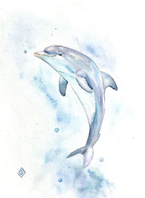 easy dolphin paintings   dolphin art ideas
