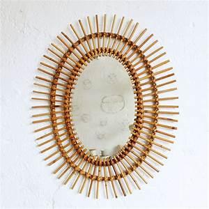 Petit Miroir Rotin : miroir rotin vintage forme fleur atelier du petit parc ~ Melissatoandfro.com Idées de Décoration