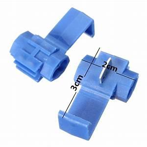 100pcs Blue Electrical Cable Connectors Quick Splice Lock