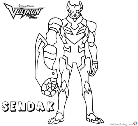 voltron coloring pages commander sendak  printable