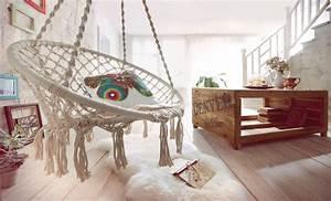 Fauteuil Suspendu Macramé : o trouver le fauteuil corde suspendu macram gypset bohemian style ~ Teatrodelosmanantiales.com Idées de Décoration