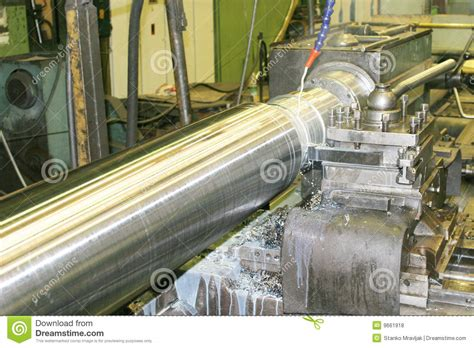 Lathe Turning Stainless Steel Royalty Free Stock Photos
