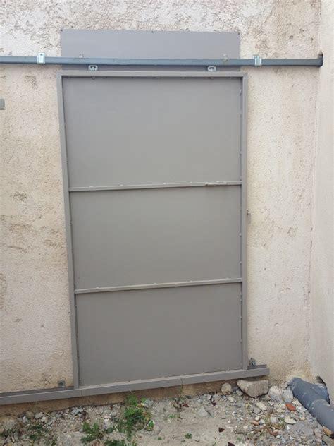 porte coulissante exterieur prix portes metalliques exterieure de securite coulissantes martigues m 233 tal concept
