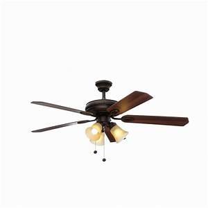 Hampton bay glendale in oil rubbed bronze ceiling fan