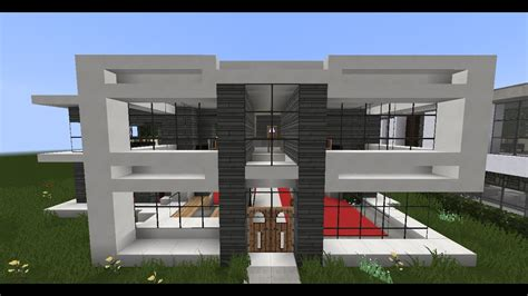 minecraft modern house designs  youtube