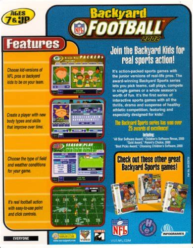 Backyard Football Pc by Backyard Football 2002 Pc Mac