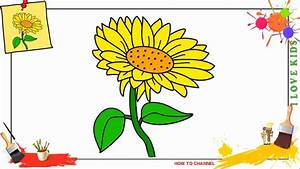 How To Draw A Sunflower Easy Step By Step For Kids