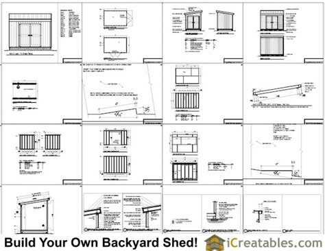 8x12 shed plans materials list 8x10 lean to shed plans storage shed plans icreatables