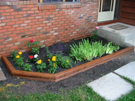 simple flower bed ideas cheapest way to get rid of grass in front yard ideas