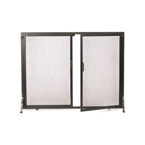 lowes fireplace screen shop achla designs 38 in graphite iron flat fireplace