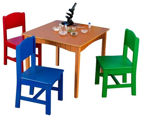 kidkraft nantucket table and 4 primary chairs