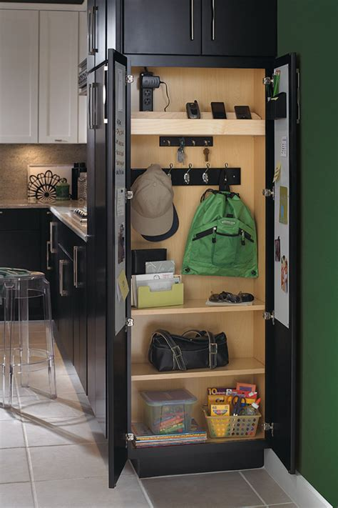 utility organizer drop zone cabinet diamond cabinetry