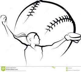 Vector Softball Pitcher