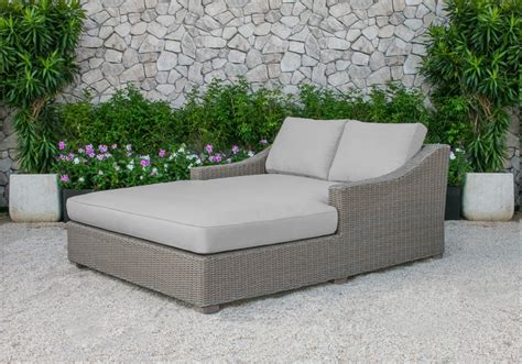 renava pismo outdoor beige wicker sunbed
