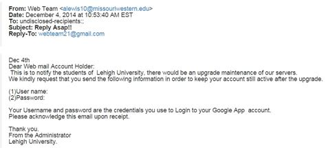 recent phishing exles library technology services