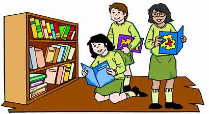 Reading Library Clipart Children Rights Places Books