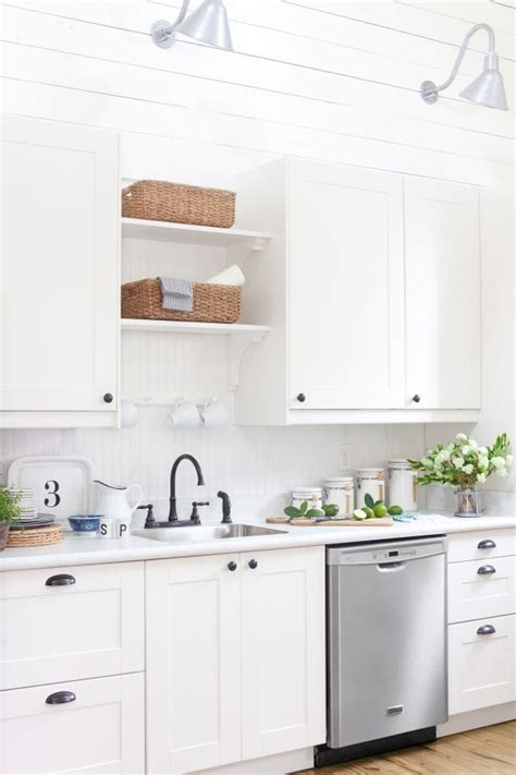 White Laminate Countertops by White Carrara Laminate Countertop The Lettered Cottage