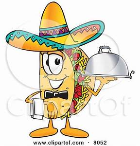 Clipart Picture of a Taco Mascot Cartoon Character Running ...