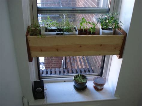 Indoor Window Planter by Herb Planter Box For The Kitchen Easy Install 4 Steps