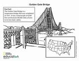 Bridge Gate Golden Coloring Pages Colouring Visit Geographic National sketch template
