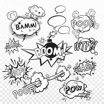 Boom Comic Explosion Poof Bubble Cartoon Speech