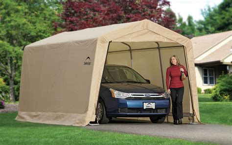 Car Shelter by Shelter Logic Garage In A Box 10x15x8 Instant Auto Car