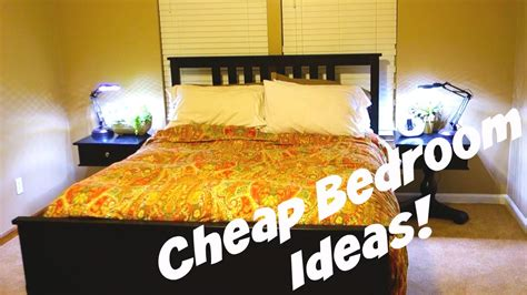 Room Decor Ideas For Cheap by Cheap Bedroom Decorating Ideas Daily Vlog 478